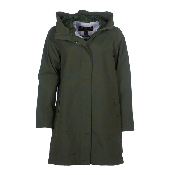 Barbour Womens Subtropic Jacket Moss Green/Platinum Tartan