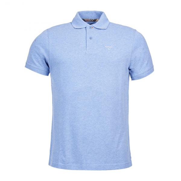 Barbour Tartan Pique Polo Sky Blue/Dress