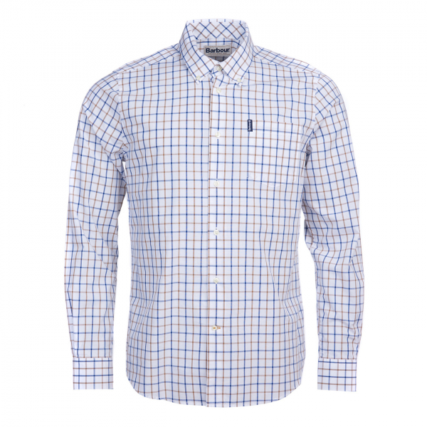 Barbour Tattersall 13 Tailored Check Shirt Sandstone