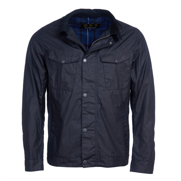 Barbour Trello Wax Jacket Royal Navy
