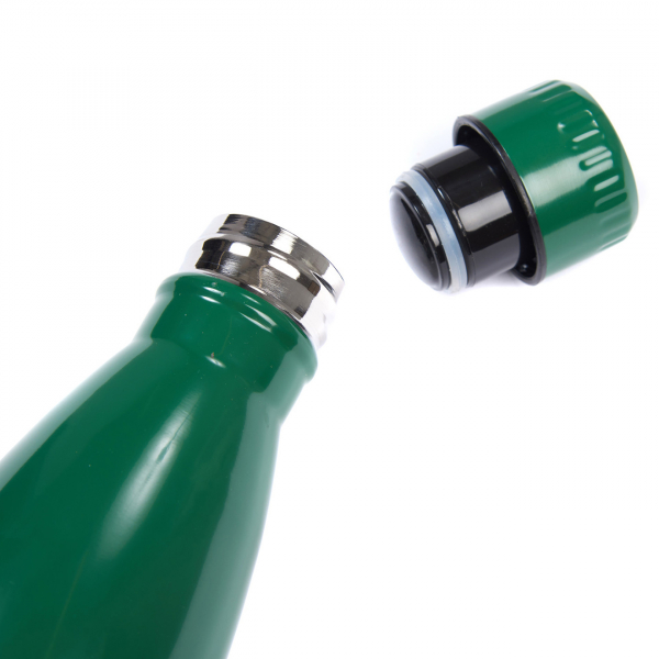Barbour Water Bottle Green With Screw Top