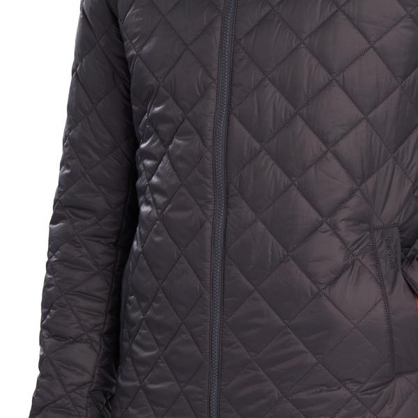 Barbour Woban Quilt Jacket Charcoal