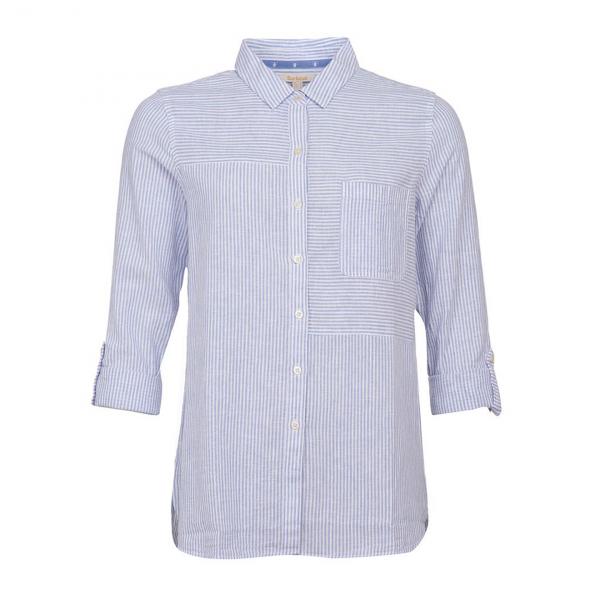Barbour Womens Beachfront Shirt Skyline Blue/White