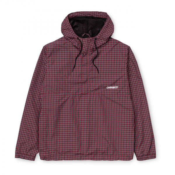 Carhartt Alistair Pullover Jacket Alistair Check/Black/Etna Red
