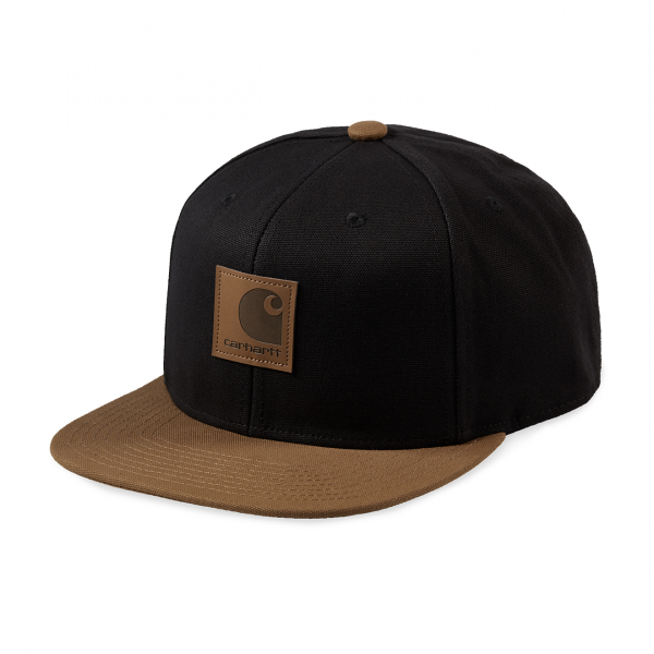 Carhartt Logo Cap Bi-Colour Black/Hamilton Brown