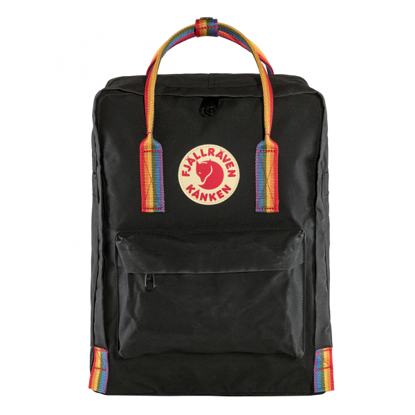 Fjallraven Kanken Classic Backpack Black Rainbow Pattern