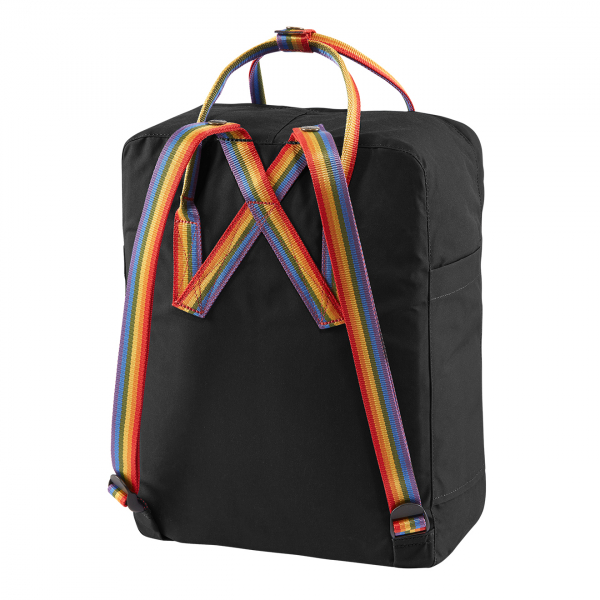 Fjallraven Kanken Classic Backpack Black Rainbow Pattern