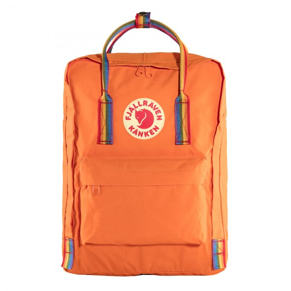 Fjallraven Kanken Classic Backpack Burnt Orange Rainbow Pattern