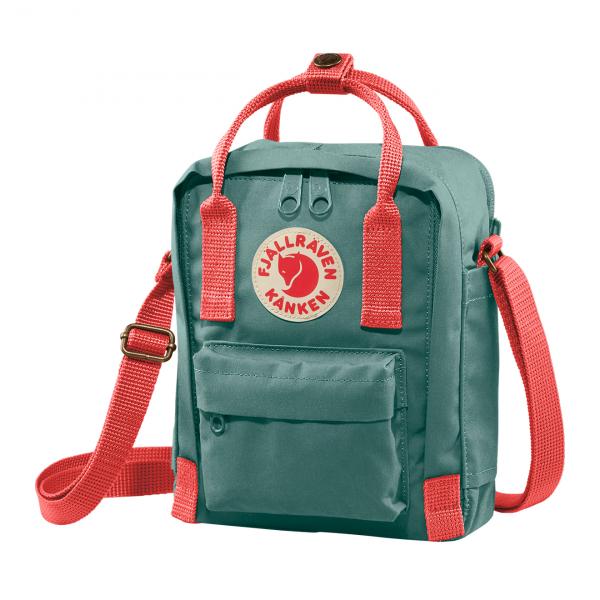 Fjallraven Kanken Sling Cross Body Bag Frost Green / Peach Pink