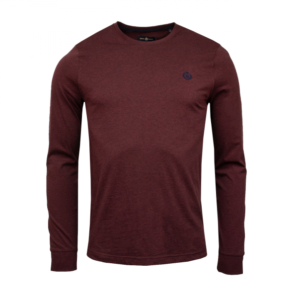 Henri Lloyd Radar Club L/S Reg Fit T-Shirt Burgundy