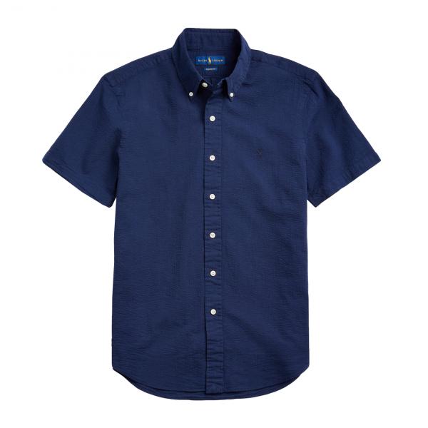 Polo Ralph Lauren S/S Seersucker Slim Fit Shirt Astoria Navy