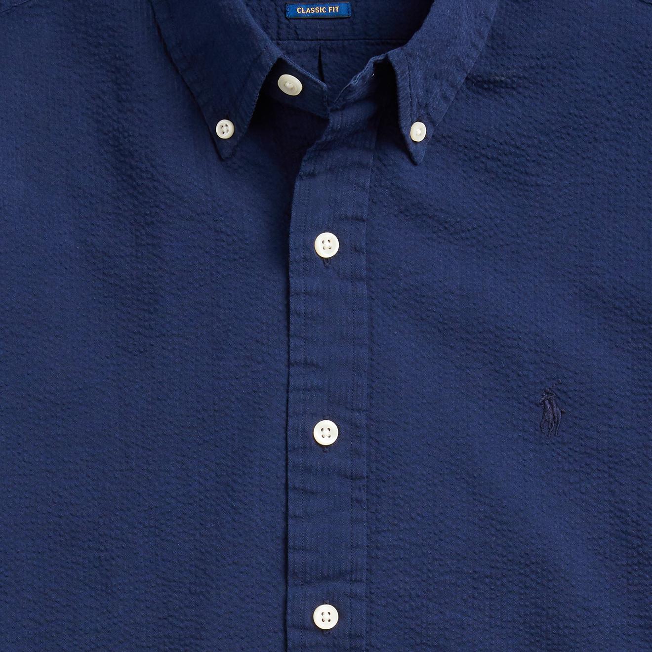 ralph lauren seersucker shirt navy