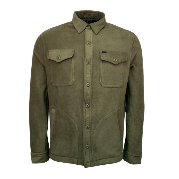 Polo Ralph Lauren Stretch Fleece Shirt Jacket Green