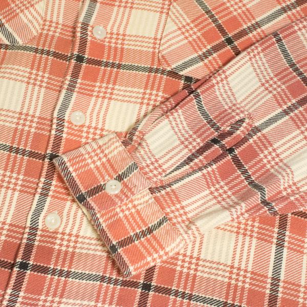 RRL by Ralph Lauren Carter Plaid Twill Camp Shirt Red Multi
