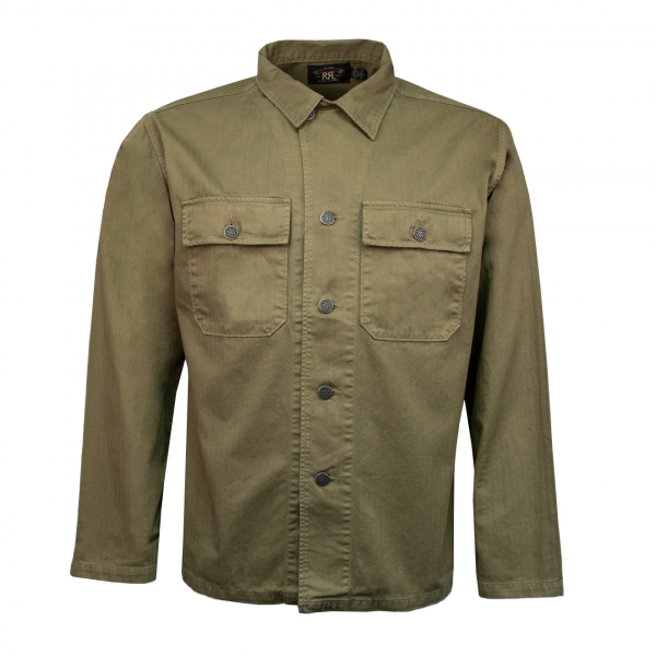 RRL by Ralph Lauren Herringbone Twill Shirt Dark Olive