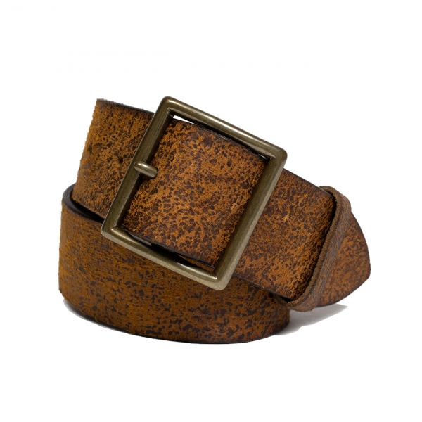 RRL by Ralph Lauren Jones Tumbled Leather Belt Tan