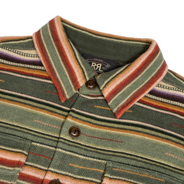RRL by Ralph Lauren Matlock Cotton-Linen Workshirt Jumper Green Multi