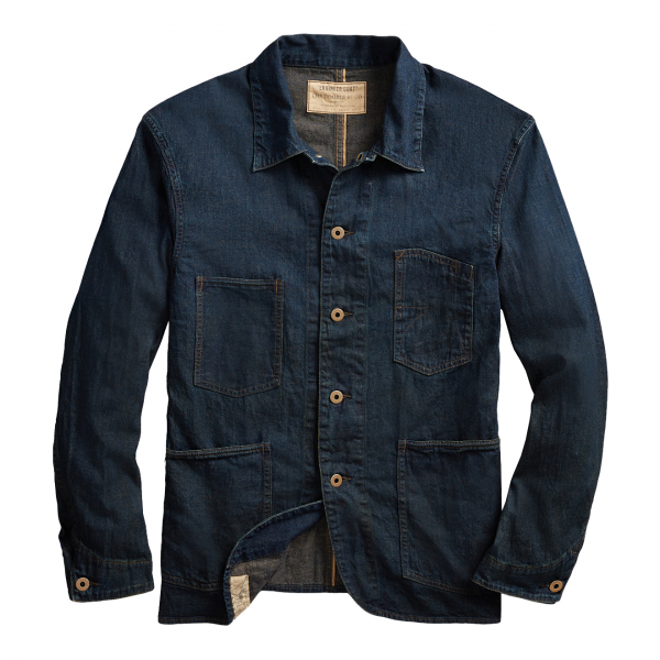 RRL by Ralph Lauren Selvedge Denim Engineer Jacket Blue