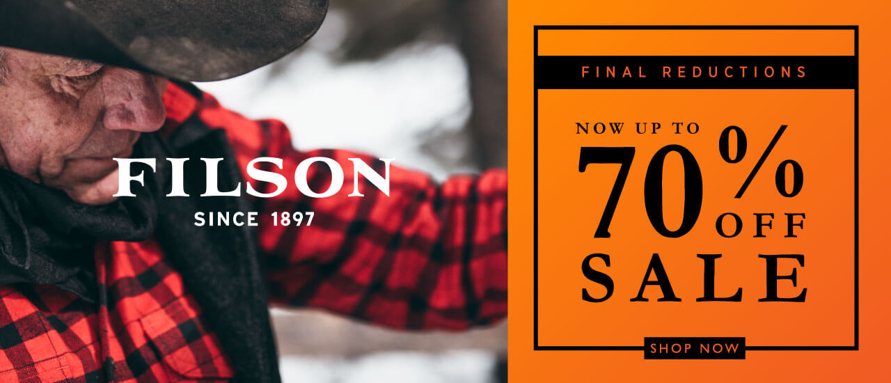 Winter Sale Final Reductions Filson