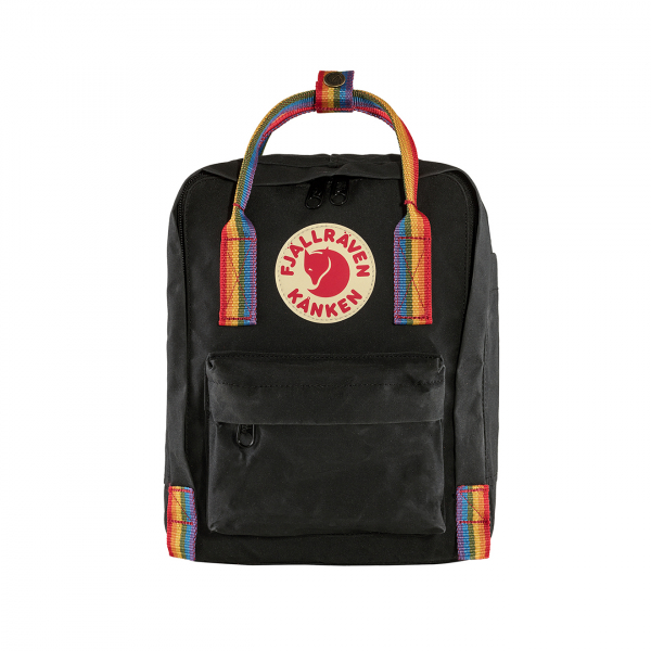 Fjallraven Kanken Rainbow Mini Black Rainbow Pattern