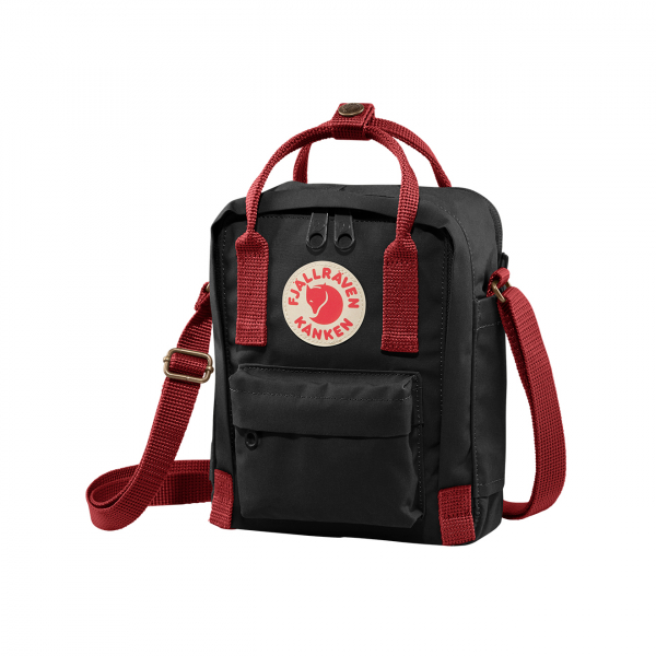 Fjallraven Kanken Sling Cross Body Bag Black / Ox Red
