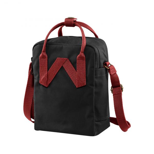 Fjallraven Kanken Sling Cross Body Bag Black / Ox Red