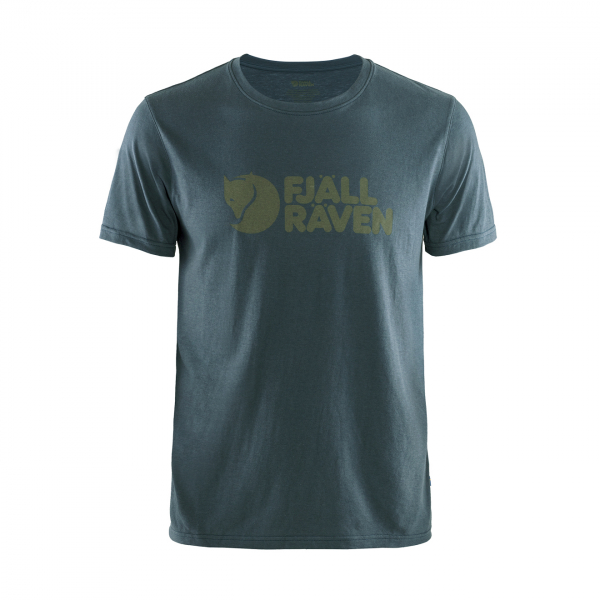 Fjallraven Logo T-Shirt Navy