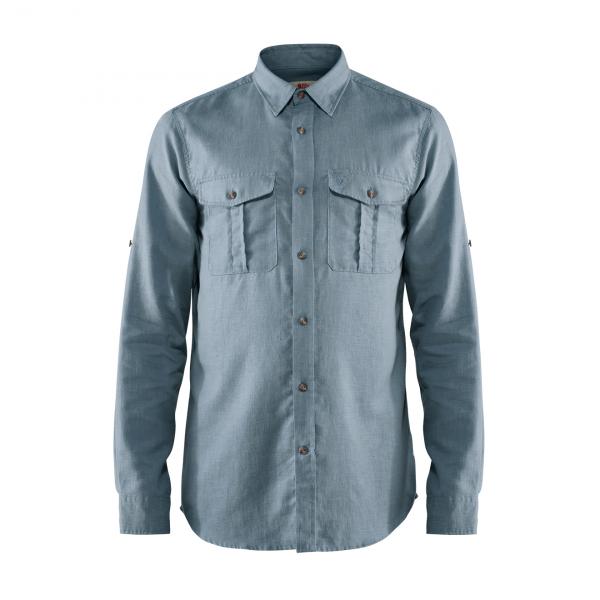 Fjallraven Ovik Travel Long Sleeve Shirt Clay Blue