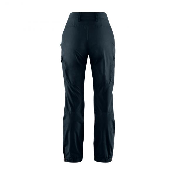 Fjallraven Womens Kaipak Curved Trousers Dark Navy