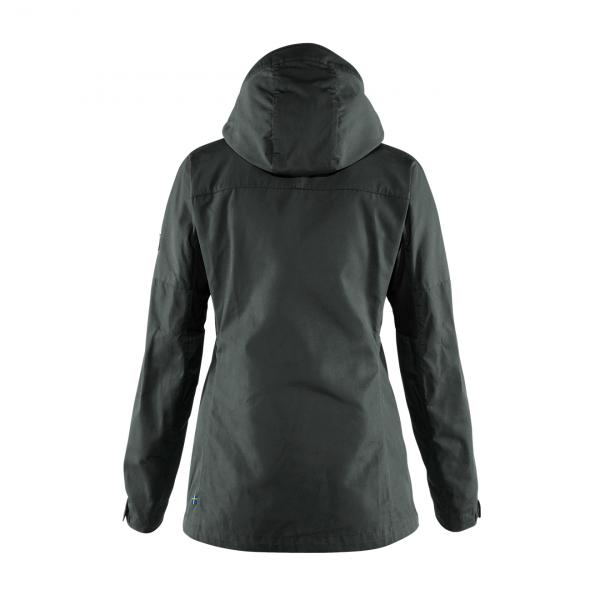 Fjallraven Womens Kaipak Jacket Dark Grey / Black