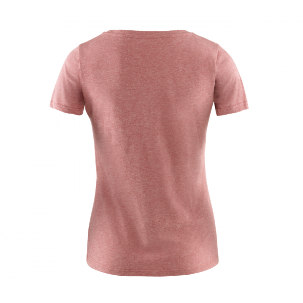 Fjallraven Womens Logo T-Shirt Raspberry / Red Melange