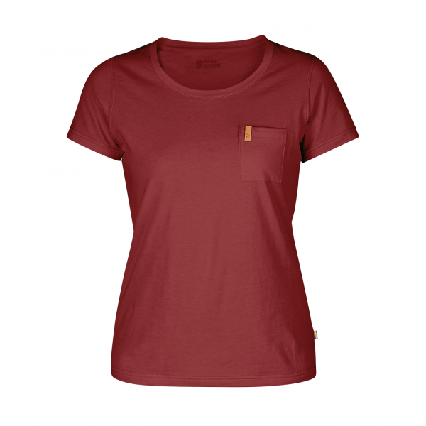 Fjallraven Womens Ovik T-Shirt Raspberry Red