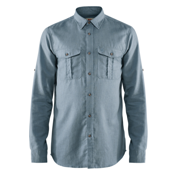 Fjallraven Ovik Travel Long Sleeve Shirt Clay Blue