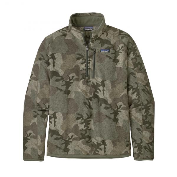 Patagonia Better Sweater 1/4 Zip Fleece River Delta Multi - Industrial Green
