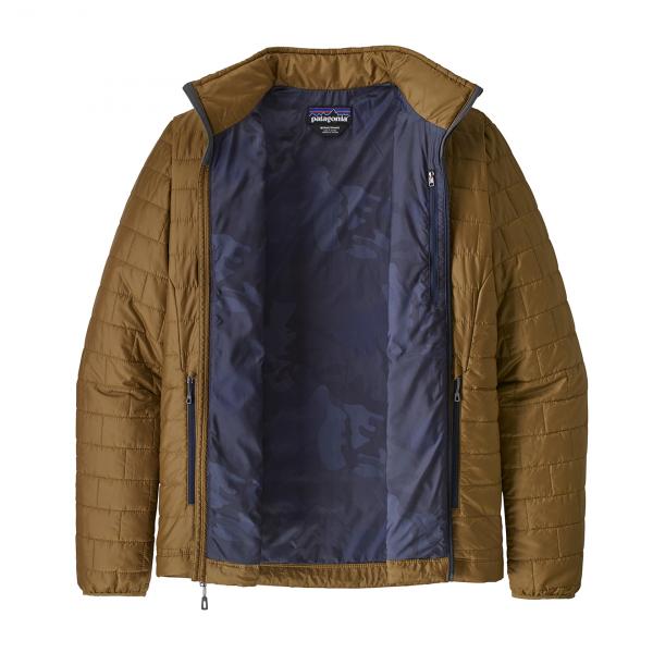 Patagonia Nano Puff Jacket Coriander Brown With River Delta Multi Smolder Blue