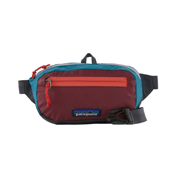 Patagonia Ultralight Black Hole Mini Hip Pack Patchwork Roamer Red