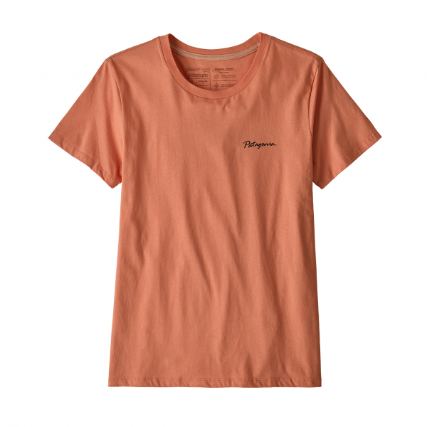 Patagonia Womens Free Hand Fitz Roy Organic Crew T-Shirt Mellow Melon