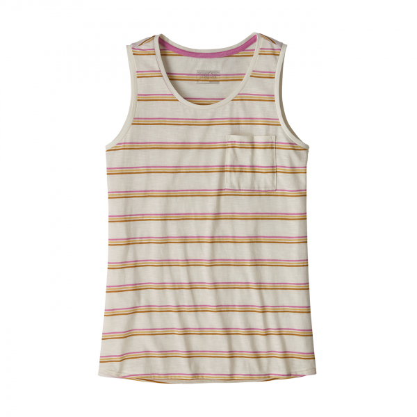 Patagonia Womens Mainstay Tank Top Pacific Stripe-Marble Pink