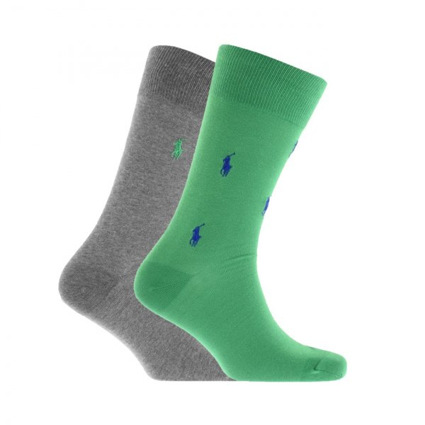 Polo Ralph Lauren 2 Pack PP Sock Green / Grey