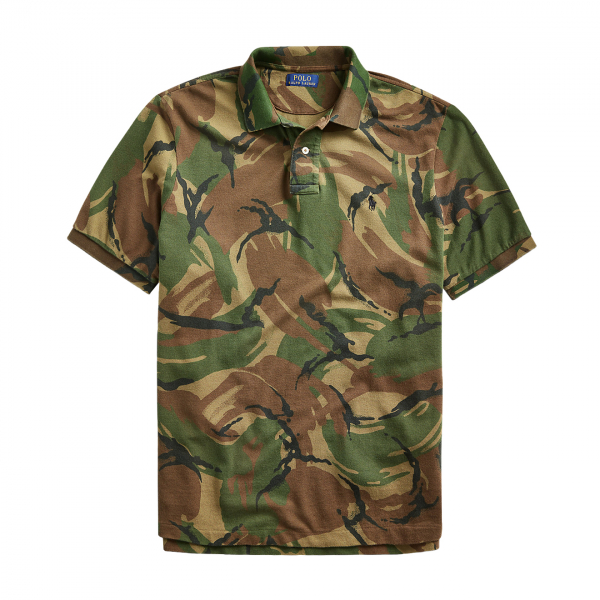 Polo Ralph Lauren Custom Slim Fit Camo Mesh Polo British Elmwood Camo