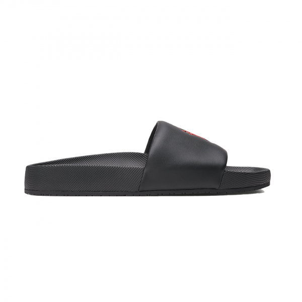 Polo Ralph Lauren Cayson Pony Slide Sandal Black / Red