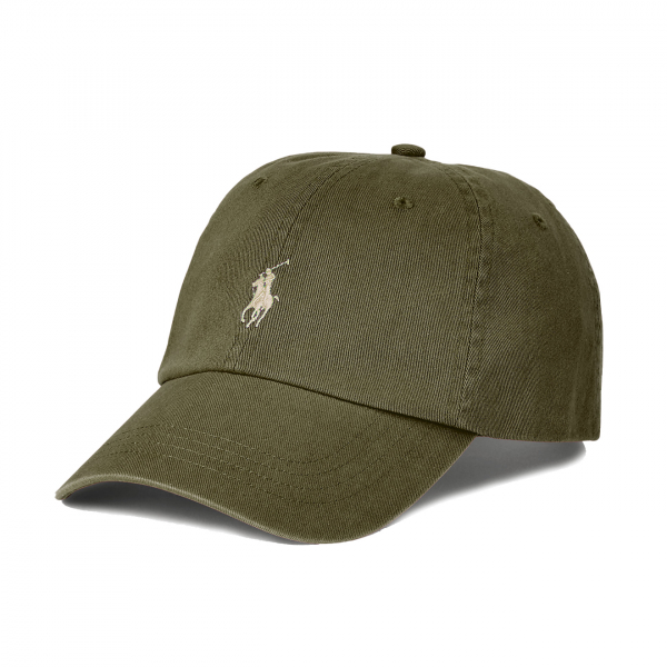 Polo Ralph Lauren Cotton Chino Baseball Cap Dark Sage