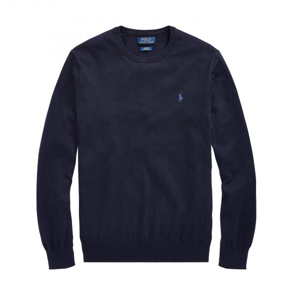Polo Ralph Lauren Slim Fit Cotton Knit Navy