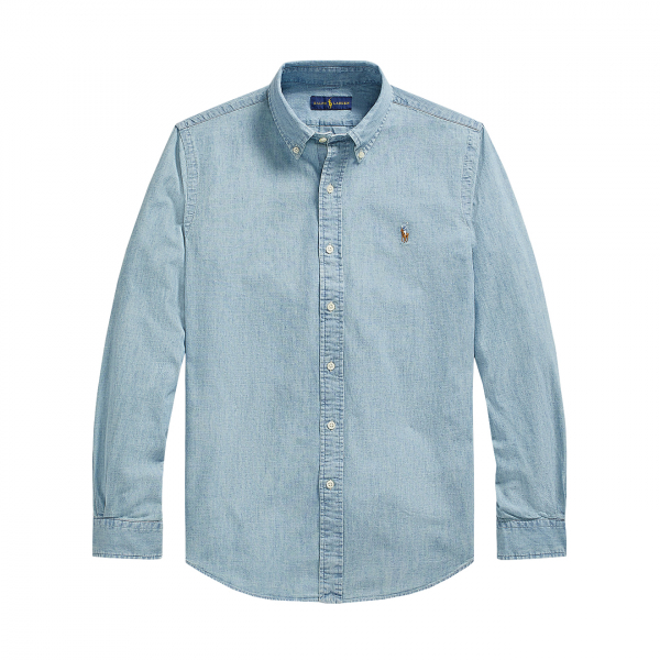 Polo Ralph Lauren Custom Fit Light Denim Shirt Chambray Blue