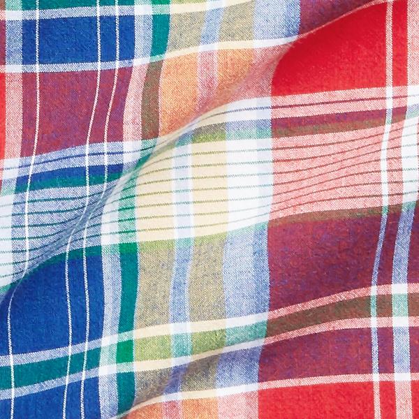 Polo Ralph Lauren Custom Fit Linen Check Shirt Red / Blue