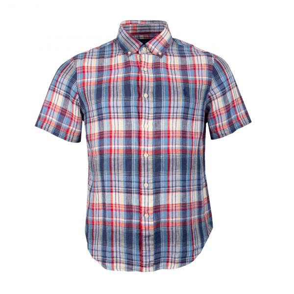 Polo Ralph Lauren Custom Fit S/S Linen Shirt Blue / Red