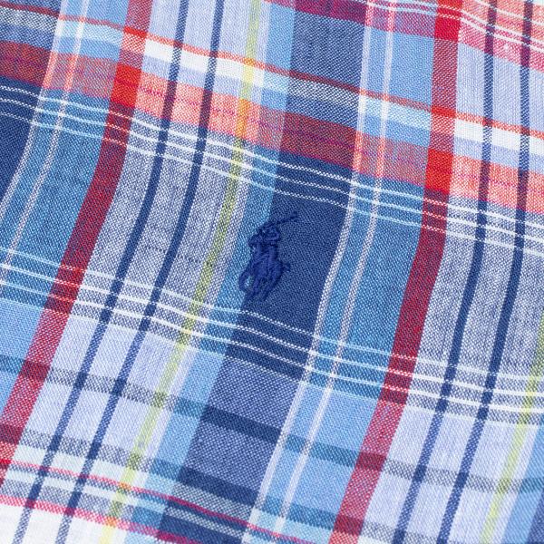 Polo Ralph Lauren SlimPolo Ralph Lauren Custom Fit S/S Linen Shirt Blue / Red