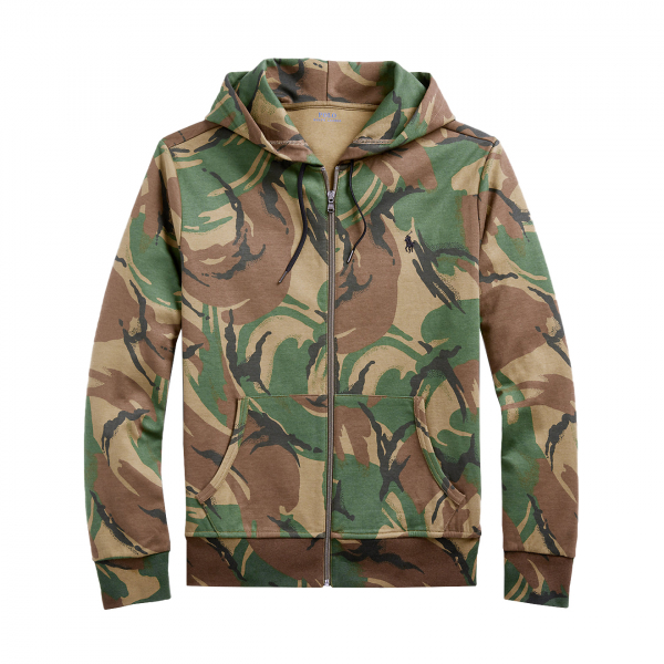 Polo Ralph Lauren Full Zip Hooded Sweat Camo Green