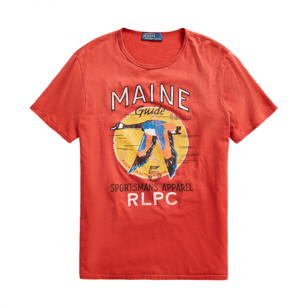 Polo Ralph Lauren Goose Print T-Shirt Post Red