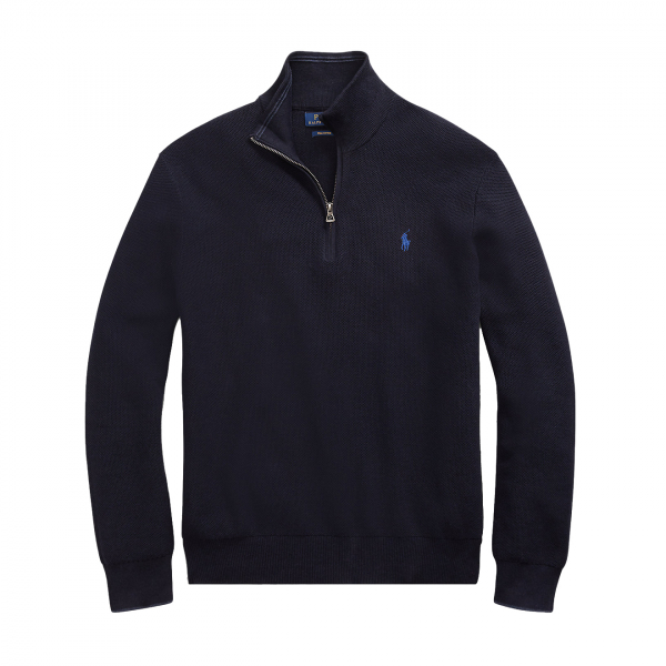 Polo Ralph Lauren Half Zip Pima Cotton Navy Heather